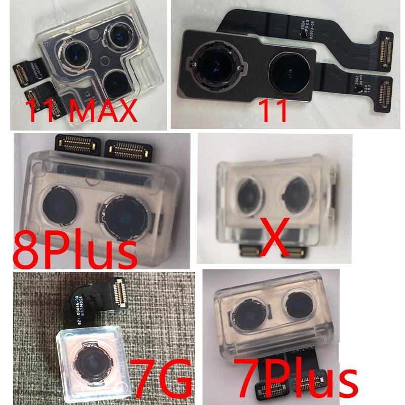 Grande parte da câmera traseira da câmera para iphone 6s mais 7 8 plus x xr xs max 11 pro max voltar módulo de câmera cabo flexível substituição