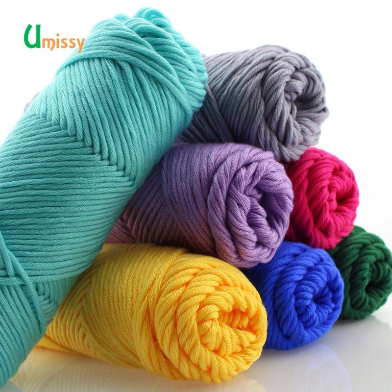 5pcs Super Thick Yarn Cotton Skincare Hand Knitting Scarf Coat Soft Yarn For Hand Knitting 500g