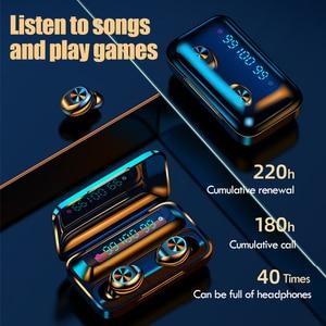 Image 5 - New TWS Bluetooth Earphone 5.0 Touch Waterproof Sport Wireless Earphones Stereo Headphones True Wireless Earbuds with Micrphone