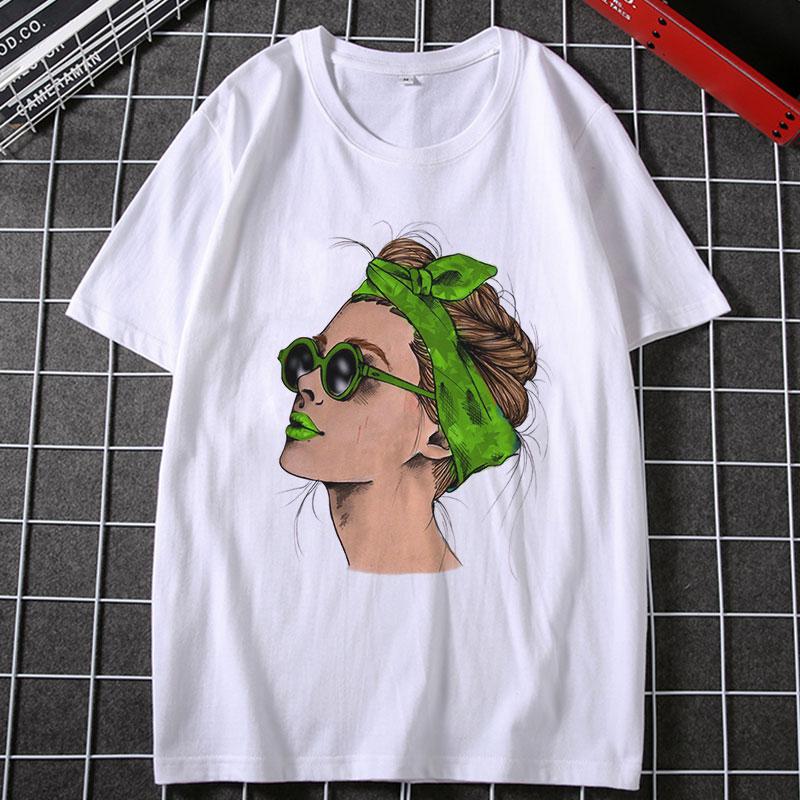 Summer 2019 Harajuku Fashion Cool Print Female T Shirt Leisure Streetwear Aesthetic TShirt Trend Thin Section Comfortable Shirt