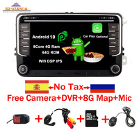 RNS 510 Android 10.0 Car DVD Player for VW golf 5 6 Touran Passat B6 CC Jetta polo Tiguan Magotan radio GPS Multimedia Player