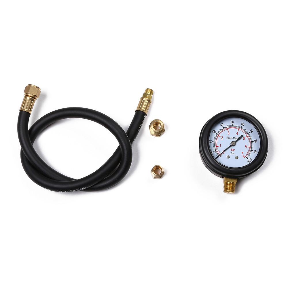 Gauges Motor Oil-Pressure Durable Hose Multi-Function Gas-Engine-Compression-Cylinder
