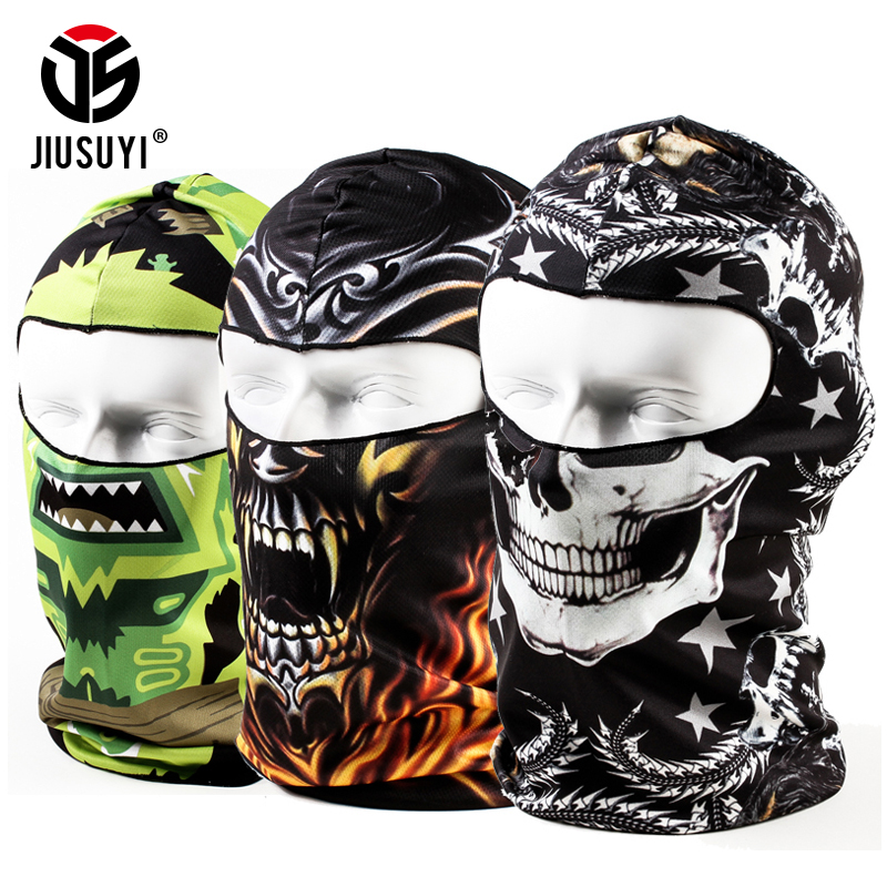 New Animal Ghost 3D Balaclava Beanies Tactical Breathable Helmet Liner Hood Hats Windproof Full Face Mask Cap Men Women 2019