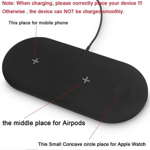 Image 5 - 3 In 1 Wireless Charger For Airpords Apple Watch Series 2 3 4 Wireless Charging Pad For iPhone XR 11 Pro XS MAX 8 Phone Charger