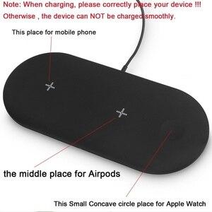 Image 5 - 3 Trong 1 Bộ Sạc Không Dây Cho Airpords Dòng Đồng Hồ Apple 2 3 4 Sạc Không Dây Miếng Lót Cho iPhone XR 11 pro XS MAX 8 Sạc Điện Thoại