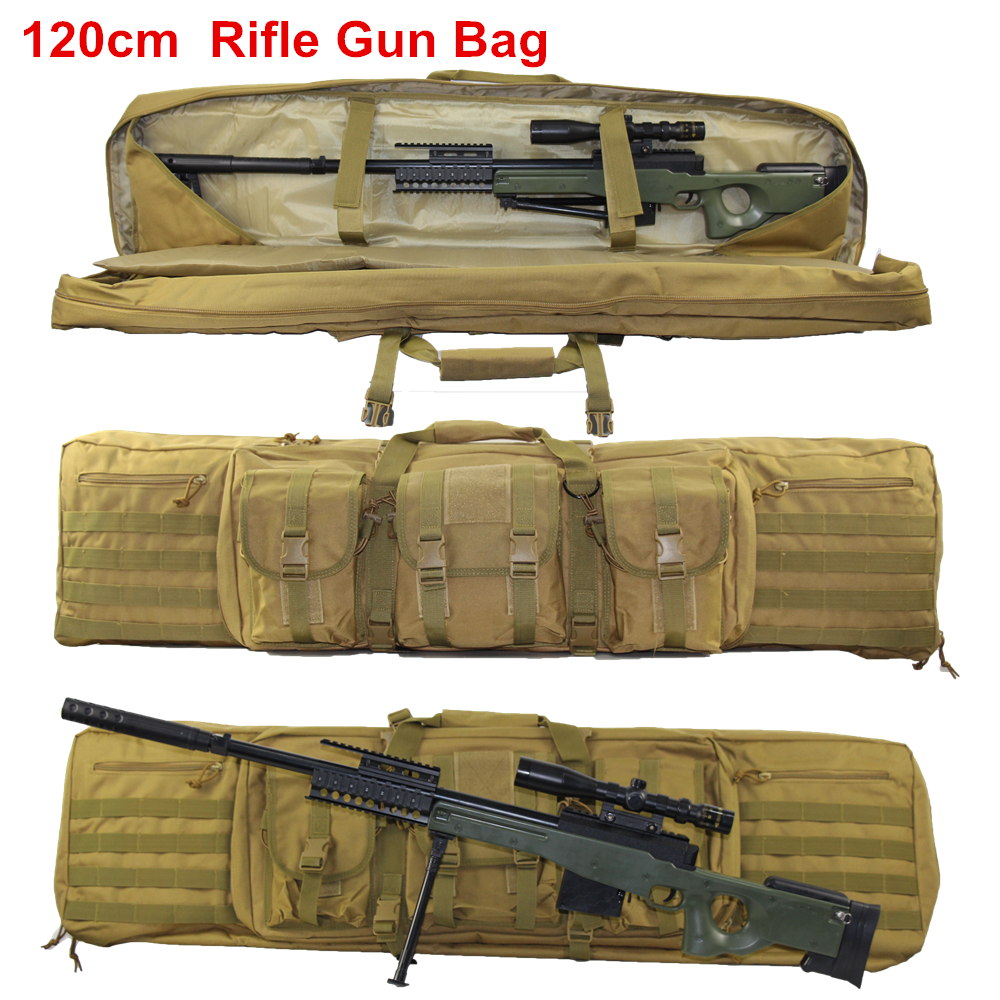120cm Military Rifle Gun Bag Case Tactical Shoulder Pack Airsoft Rifle Hunting Bag Shooting Sniper Air Gun Protection Backpack