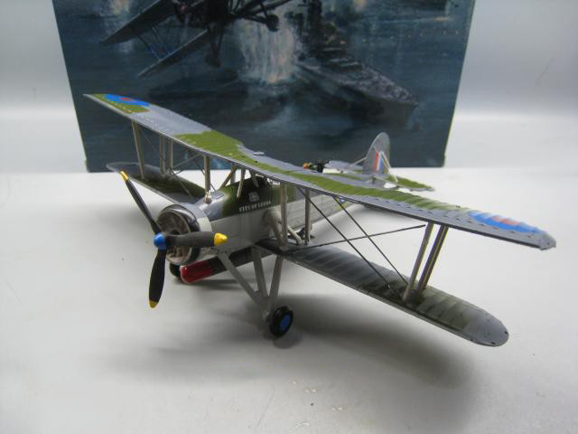 1/72 World War II England Retro British Army Torpedo Attack Swordfish Biplane Air Force Fighter Classic Aircraft Airplane Models