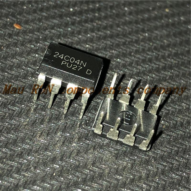 10PCS/LOT  AT24C04 24C04 DIP8 DIP-8  New Original  In Stock