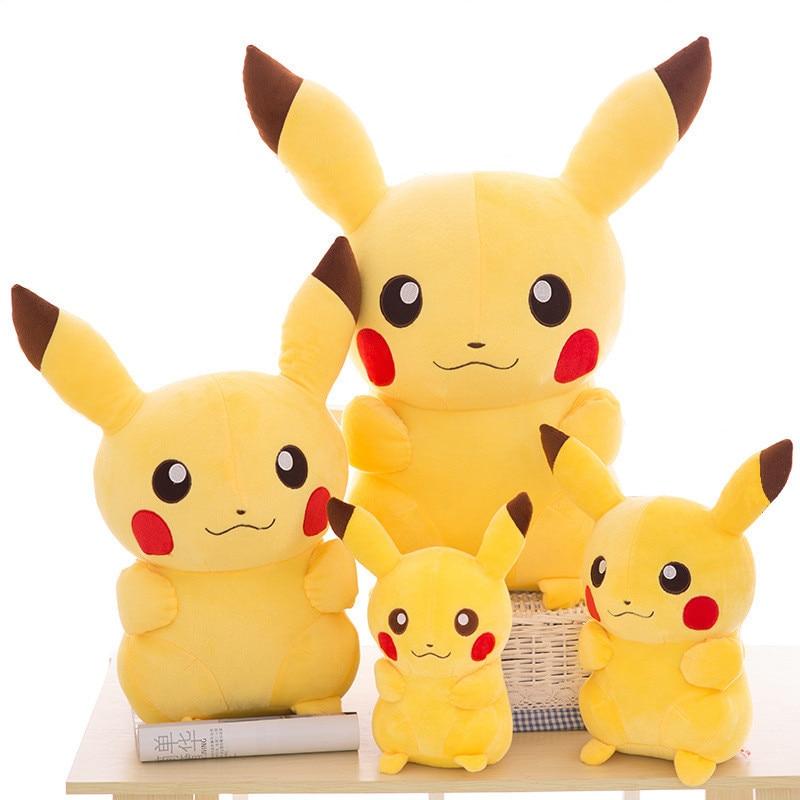 55cm Pikachu Movie Plush Doll Animal Plush Stuffed Pokemon pelucia Child birthday gift to appease the doll Cartoon toy figurine 2