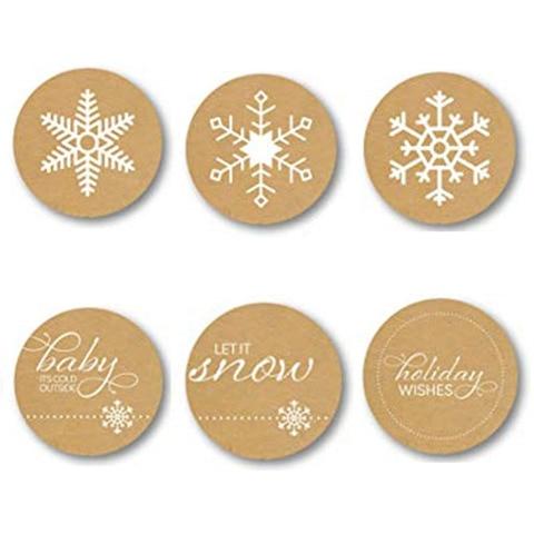 etiqueta do feriado floco de neve
