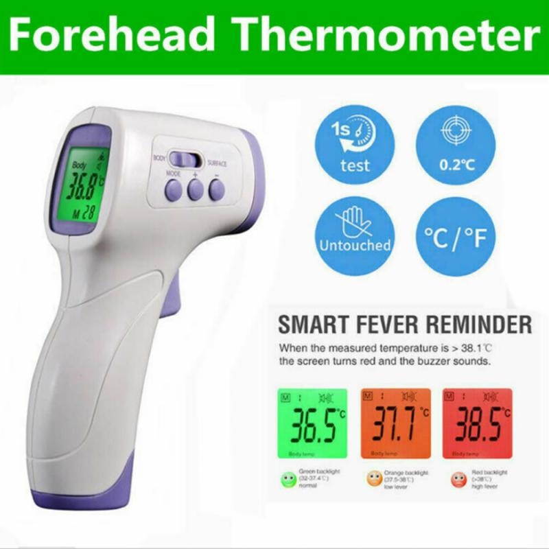 Non-contact Fever Lcd Digital Thermometer Portable Handheld Infrared Adult Baby Thermometer With LCD Backlight Measurement Care