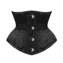 Waist trainer Gothic Underbust Corset and Waist cincher steampunk Bustiers Top Workout Shape Body sexy lingerie Slimming Belt