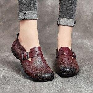 Image 5 - DRKANOL 2020 wiosenne buty damskie oryginalne skórzane wkładane mokasyny damskie płaskie buty damskie płaski baleriny moda pojedyncze buty H802