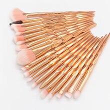 4-20 pçs conjunto de pincéis de maquiagem de diamante pó fundação blush mistura sombra de olho lábio cosméticos beleza compõem escova kit de ferramentas