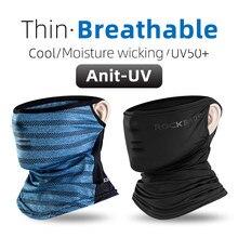 ROCKBROS — Masque anti-UV et anti-transpiration, modèle Summer Ice Silk Cycling, bandana pour la course, respirant, protection solaire, écharpe de sport