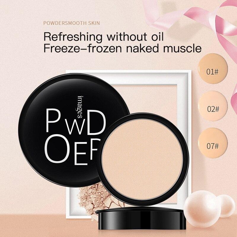 Пудра для макияжа, 3 цвета, рассыпчатая пудра для макияжа лица, водостойкая гладкая рассыпчатая пудра для кожи, поглощает жирность, минимизи...