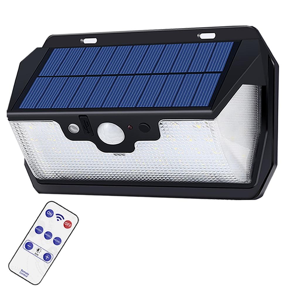 180COB LEDs Remote Control Solar Motion Sensor Wall Lamp Outdoor Garden Light