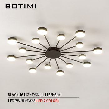 BOTIMI Novelty Metal Irregular Ceiling Lights For Foyer Black Ceiling Lamp Golden Surface Mounted Bedroom Lighting Fixture 10