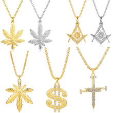 Luxury Gold NECKLACE Chain Necklace Mens Women dollar Maple Leaf Pendant Necklaces Fashion jewelry Hip Hop Controller necklace