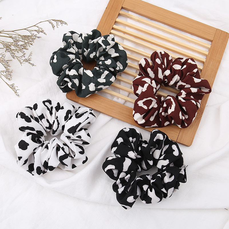 1PCS New Arrival Vintage Leopard Ponytail Holder Scrunchies Ring Elastic Hair Band Tie For Women Girl Hair Accessoires