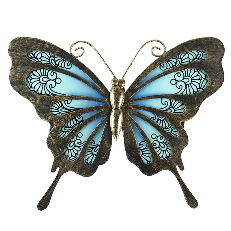 Garden Butterfly of Wall Artwork for Home and Outdoor Decorations Statues Miniatures Sculptures 1