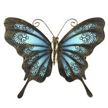 Садовая бабочка, настенная живопись для дома и улицы, украшения, статуи, миниатюрные скульптуры