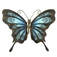 Mariposa de jardín de arte de pared para el hogar y decoraciones al aire libre estatuas miniaturas esculturas