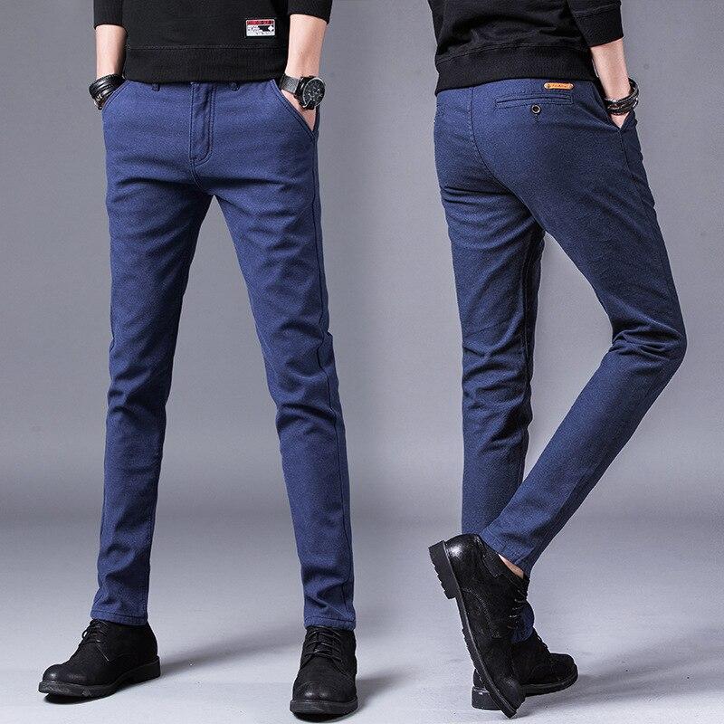 Новинка весны 2019, мужские многоцветные повседневные штаны, Бизнес Мода, эластичные, одноцветные, облегающие, nn1