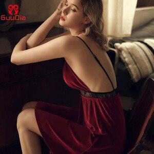 GUUDIA женская сексуальная ночная рубашка с v образным вырезом платье для сна», мягкий комплект одежды из плюша для сна, Пижамный костюм для детей Зимний Ночные сорочки для сна Ночная сорочка сексуальная одежда для сна|Ночные сорочки и пижамы|   | АлиЭкспресс