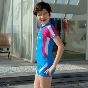 Image 4 - Crianças esporte roupa de banho 3 15t um pedaço maiô com touca de natação crianças trainning competição terno de natação meninos meninas roupas de banho