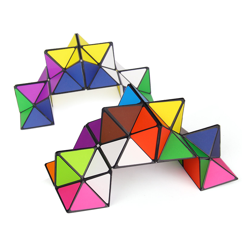 2pcs Set Colorful Folding Cube Magic Star Infinite Cube Puzzle Toy Children Kids Gift Toy Youth Adult Instruction