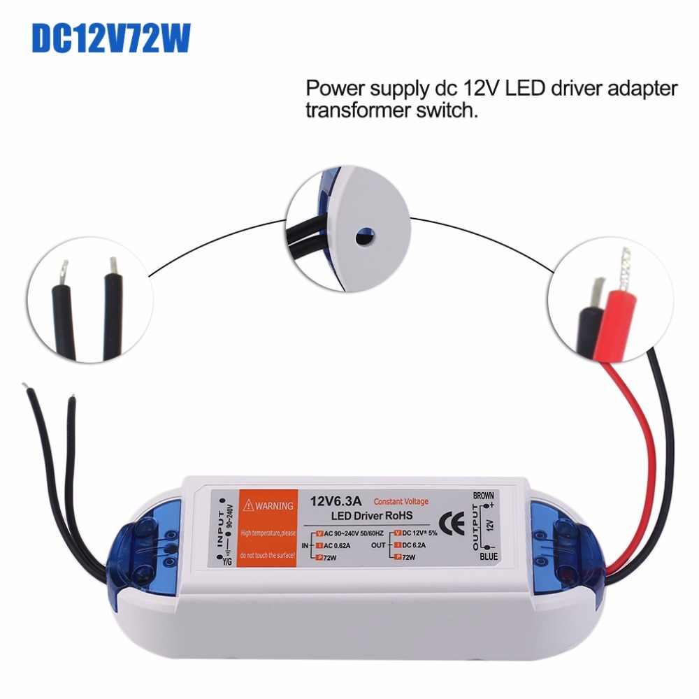 ICOCO 18 Вт/28 Вт/48 Вт/72 Вт/100 W Питание DC 12v Светодиодный драйвер адаптер трансформаторный блок Выход 100 V-240 V для Светодиодные ленты
