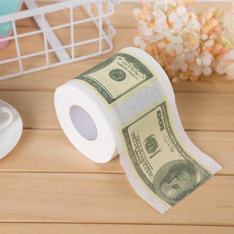 Creative Printed Roll Paper Toilet Paper Color Paper Towel Tissue Paper Toilet Paper Core Toilet Paper Cool Paper 1 Volume Ameri