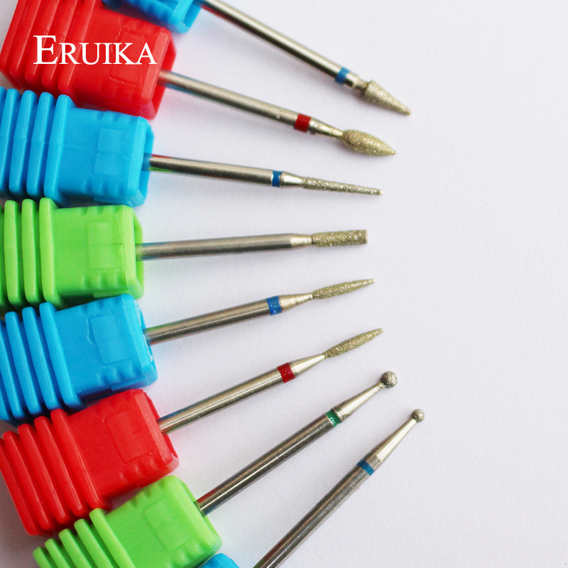 ERUIKA 8 Type Diamond Nail Drill Bit Rotary Burr Bit Pedicure Tools Electric Nail Manicure Machine Drill Accessories Nail Mills