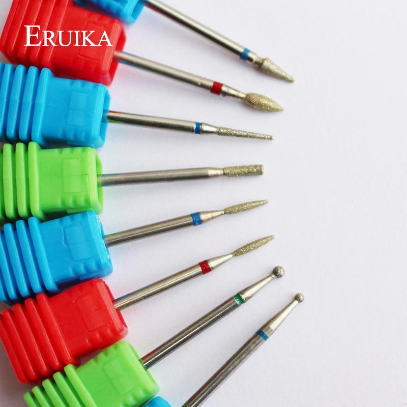 ERUIKA 8 Type Diamond Nail Drill Bit Rotary Burr Bit Pedicure Tools Electric Nail Manicure Machine Drill Accessories Nail Mills