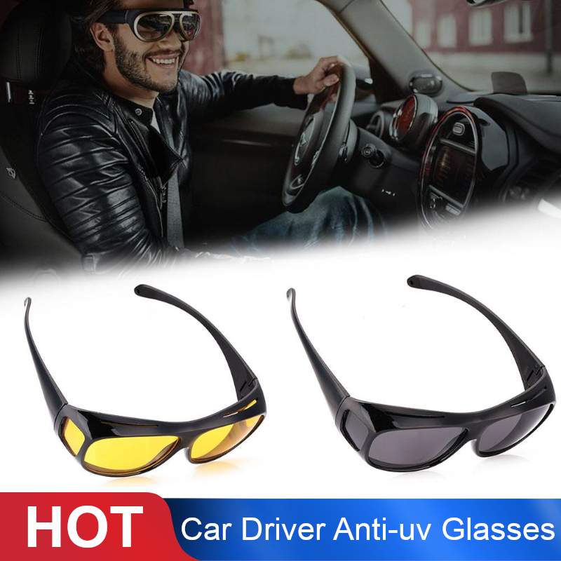 Driver Goggles HD Yellow Lens Glasses Driving Sunglasses Fashion Anti-UV Night Vision For Driver Men/Women