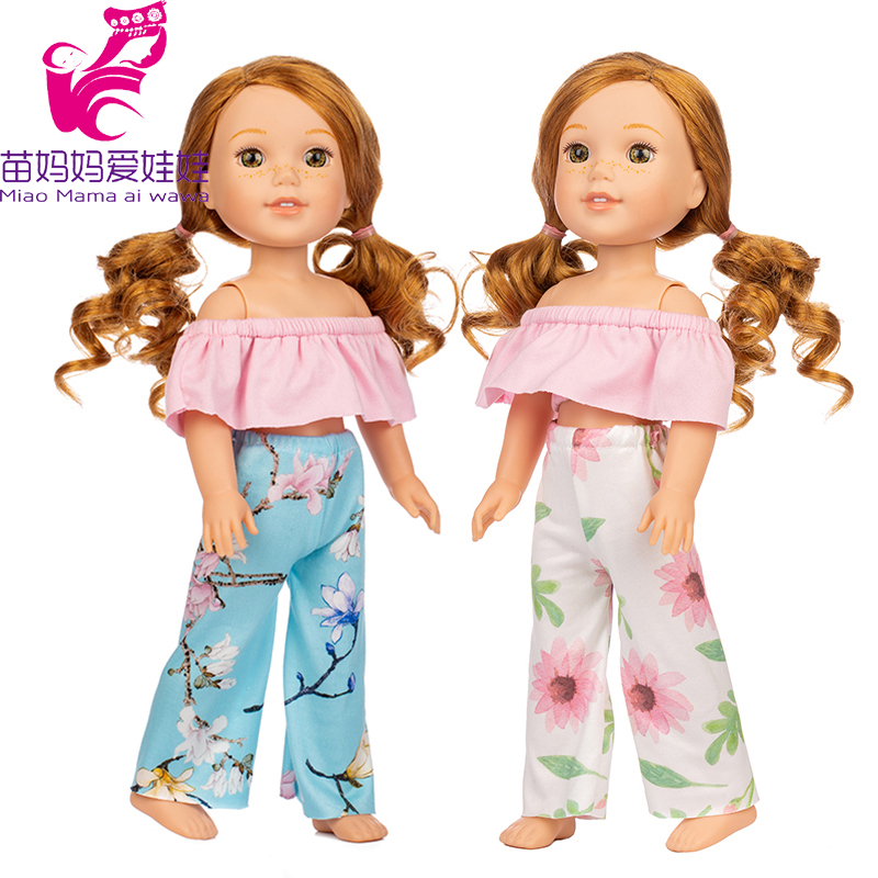 For 14.5 Inch Wellie Wishers Doll Shirt Trousers Camille Ashlyn Kendall Emerson Doll Clothes 38cm 36cm Nancy Toys Outfits