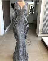 Lace Sheath Lace Evening Dresses Mermaid Sequins Formal Event Party Gown Plus Size Pageant Dresses Custom Made