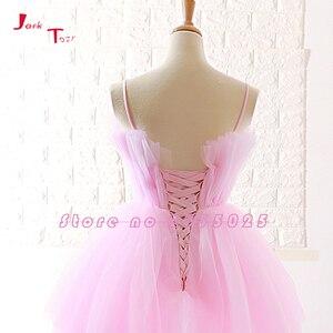 Image 5 - Jark Tozr Custom Made High Low Prom Dresses Vestido De Festa  China Pink Formal Gowns Ballkleider