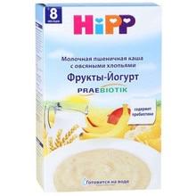 Каша молочная Hipp Пшеничная с овсяными хлопьями Фрукты-Йогурт с 8 мес 250 гр