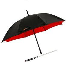 Retro Black Parasol Umbrella Big Long Business Uv Patio Golf Umbrella Windproof Outdoor Sombrillas Rain Gear BY50LU