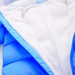 Image 4 - עבה חד חתיכות Romper עבור תינוק יילוד בתוך בתוספת קטיפה רך חורף פעוט סרבל תינוק פעוט בגדי גוף חליפה