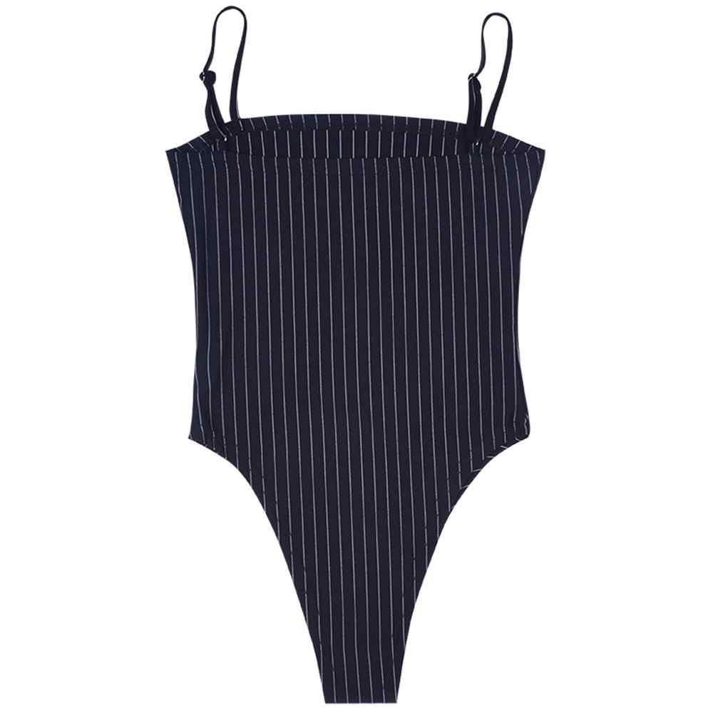 2019 body Sexy kobiet mody paskiem body bez rękawów kombinezon Skinny bez pleców Romper body stringi A1