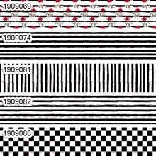 10 ярдов-разные размеры-корсажная лента-черно-белые полосы и квадратные печатные ленты