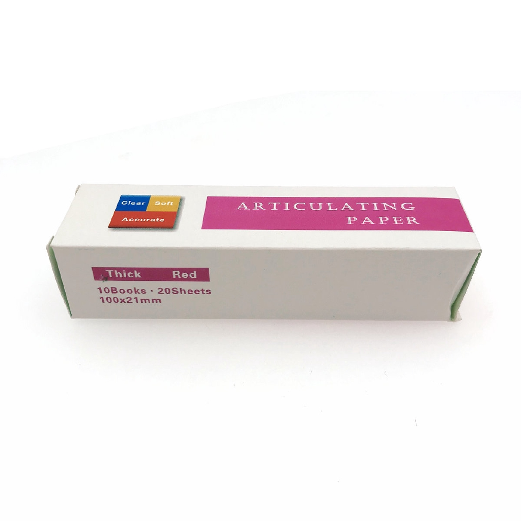 Blue/Red Dental Clinc Articulating Paper Strips Thick Strips 20 sheets/book 10 books/Box-2