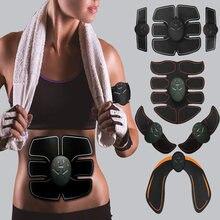 Stymulator mięśni EMS stymulacja mięśni brzucha elektrostymulator stymulator ABS Fitness elektryczny masażer do celulitu