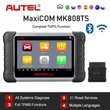 Autel maxicom mk808ts mk808bt obd2 scanner ferramenta de verificação diagnóstico do carro para o automóvel obd 2 tpms sensor programação pk mk808 mp808ts