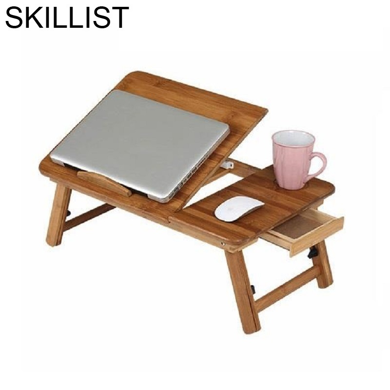 Ordinateur Portable Bureau Meuble Office Furniture Tafel Lap Tisch Bed Bambu Bedside Mesa Laptop Stand Study Table Computer Desk
