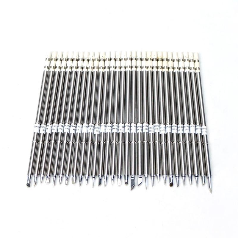 10PCS T12 Soldering Iron Tip Set T12-k// BC2// BL //BC1//BC3// ILS// D16// KU// D12//