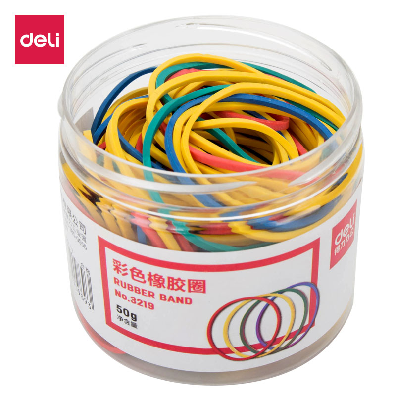 Deli 50g Color Elastic Rubber Ring / Rubber Band 3219